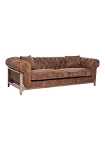 Harlow Leather 3 Seat Chesterfield