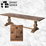Iron Clover Parquet Dining Table