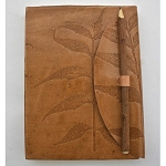 Journal - Leather leaf with pencil