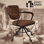 Office Chair - Mailroom brown - vegan faux leather