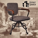 Office Chair - Mailroom grey - vegan faux leather
