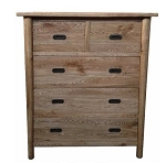 Malibu Wide 5 Drawer Chest