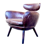 Manhattan Chair in Rubbed Tobacco Leather