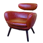 Manhattan Chair in Red Leather