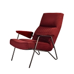 Martini chair maroon velvet