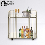 Drinks Trolley - mirrored gold
