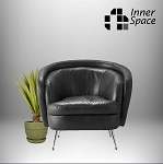 Dietrich Armchair - Black Leather