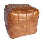Ottoman, Chequerboard Cube, Leather 4609