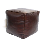 Ottoman Leather Cube
