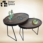 Daintree Set 2 Oval Tray Coffee / Side Tables