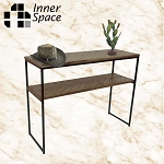 parquet top slim console / hall table