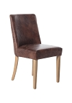 Rebel leather dining chair brown