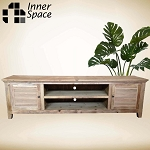 Media / Entertainment Unit - Recycled elm Louvre Door - 2 sizes available