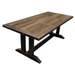 Recycled Australian Hardwood Dining Table Refectory Leg - Can be built to your preferred size and specification