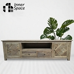 Media / Entertainment Unit - salvaged elm parquetry - 2 sizes available