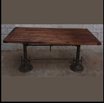Adjustable Dining Table / Desk Salvaged Timber Top