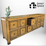 Shanghai Sideboard / Buffet - amber 12 drawer