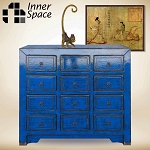 Shanghai deep blue 9 drawer buffet