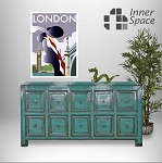 Shanghai Sideboard / Buffet - emerald 10 drawer