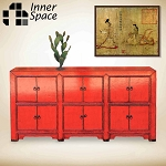 Shanghai Sideboard / Buffet - red 12 door