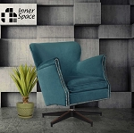 Spin Doctor - swivel chair - aqua with studs