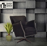 Spin Doctor - swivel chair - black with studs