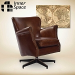 Spin Doctor - swivel chair - vintage leather