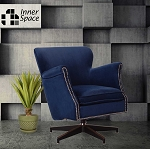 Spin Doctor - swivel chair - navy with studs