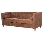 Waverly Suede Leather 3 Seat Sofa
