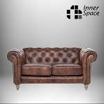 Chesterfield Westchester Two Seater Sofa In Waxed Aged Leather
