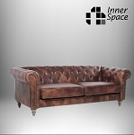 Chesterfield Westchester Three Seater Sofa In Waxed Aged Leather