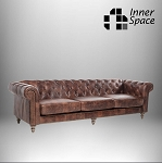 Chesterfield Westchester Four Seater Sofa In Waxed Aged Leather