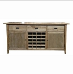 Malibu Buffet with removable wine rack 2 sizes available 15 bottle 130cm wide or 20 bottle 180cm wide