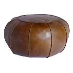 Ottoman, Pumpkin Large, Leather 4604