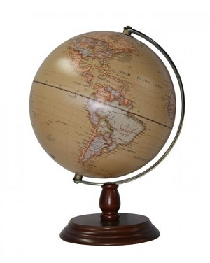 Globe On Wooden Base