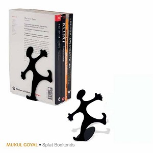 Bookends Desk Splat Black MG613