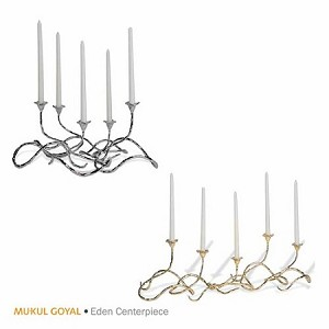 Candles Eden Centrepiece, Set of 5 Gold MG301