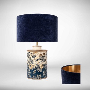 Damask Navy Table lamp